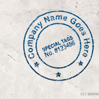 Create Your Own Realistic Stamp