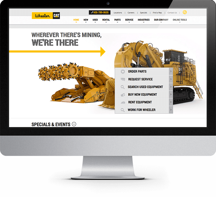 Wheeler CAT page - mining