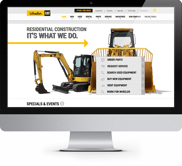 Wheeler CAT page - residential construction