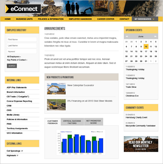 Cleveland Brothers eConnect Intranet page