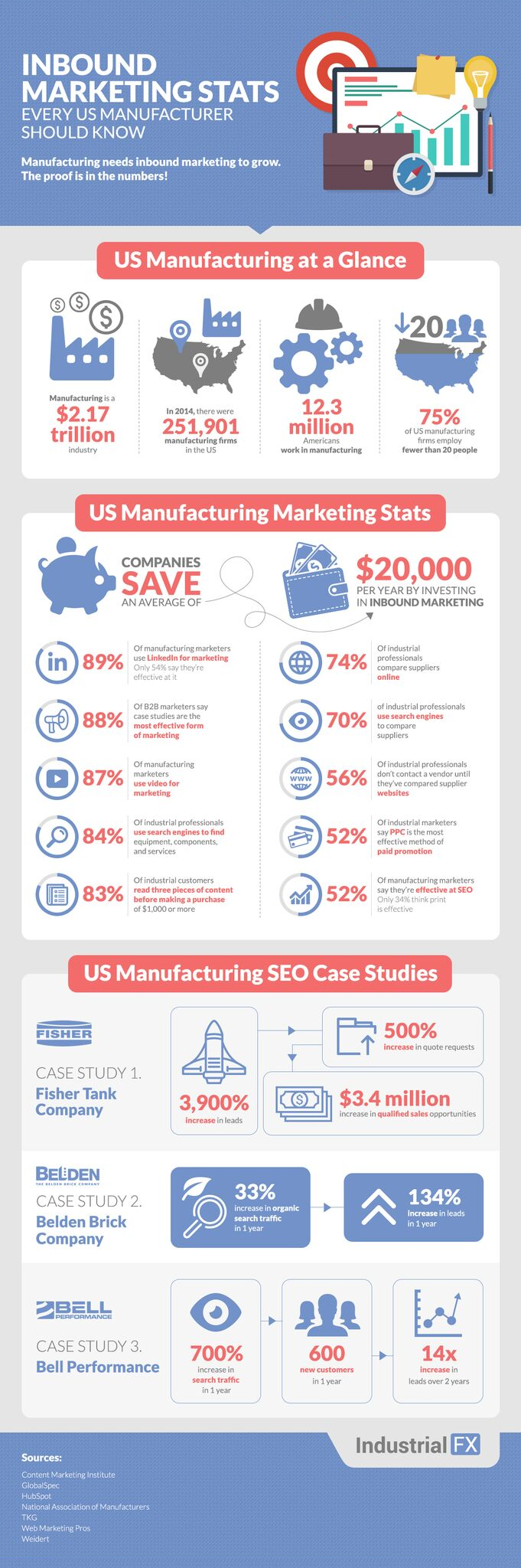 SEO Stats on Manufacturing Infographic
