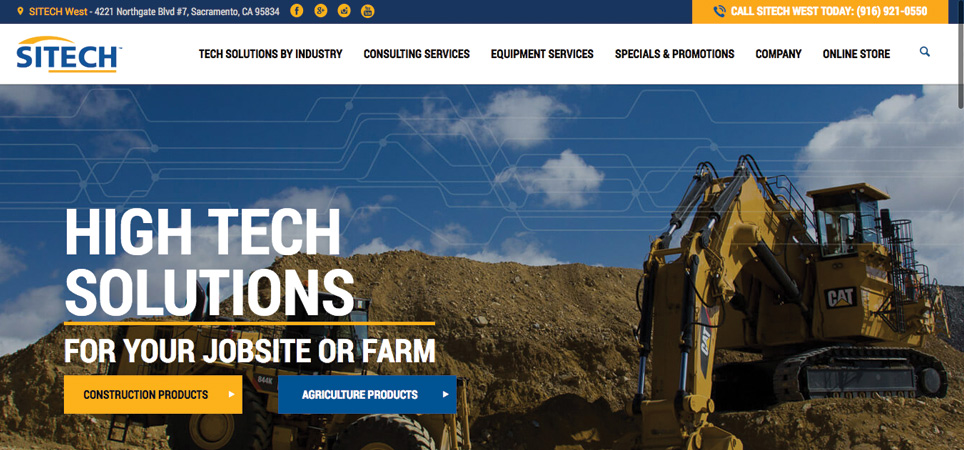Sitech page - high tech solutions