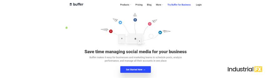 A screenshot of Buffer, a content marketing tool