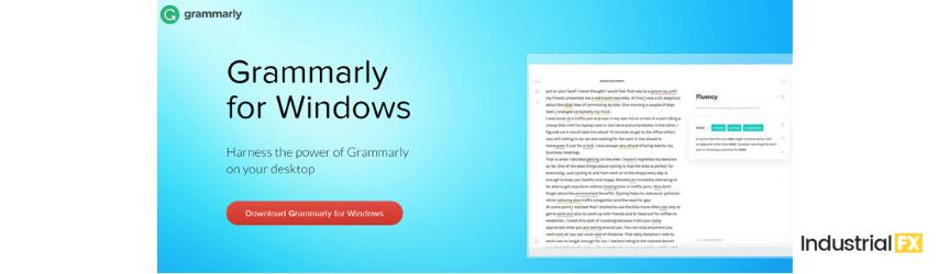 A screenshot of Grammarly. a content marketing tool